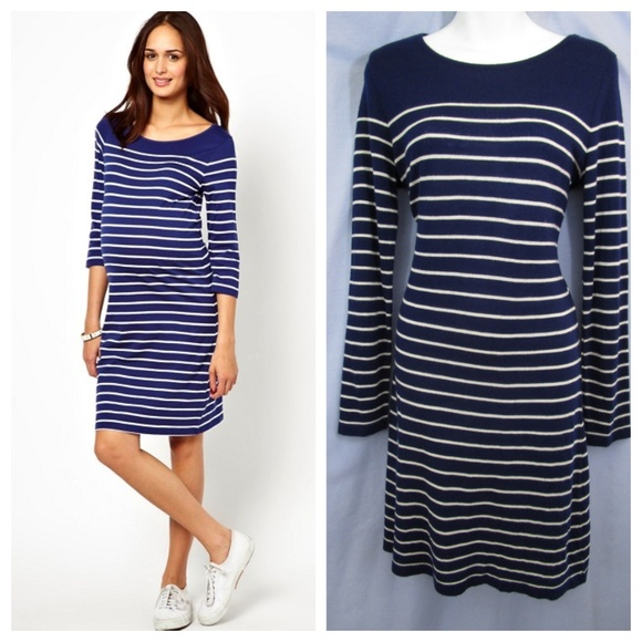 a9101242cc ASOS Maternity Dresses   Skirts - Asos Maternity Breton Dress Navy White  Stripe ...